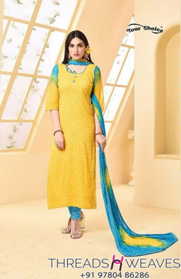 Pure Chiffon Embroidery Salwar Suit