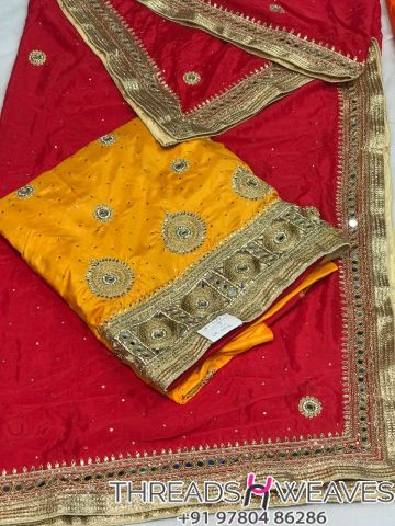 Silk hand Work suit with Dupatta