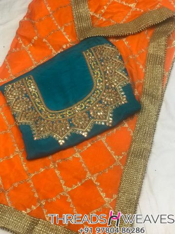 Silk suit with dupatta