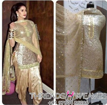 Golden khichdi suit