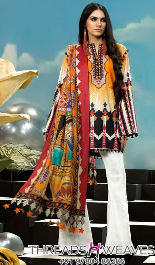 Exclusive Elan Lawn Embroidery Suit