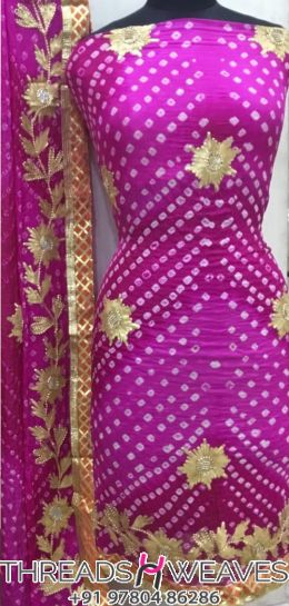 Bandhini Cotton Suit
