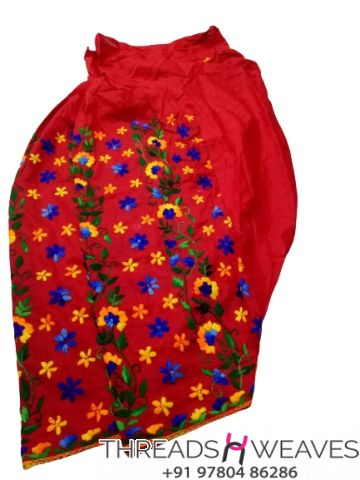 Red Beautiful hand work kantha salwar