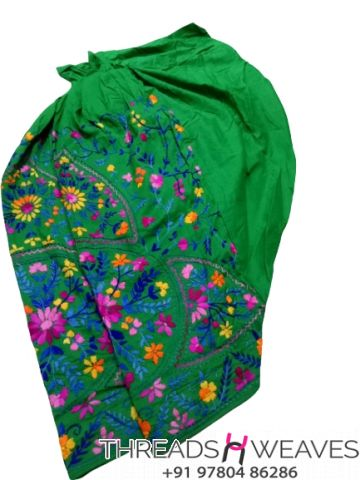 Green Beautiful hand work kantha salwar