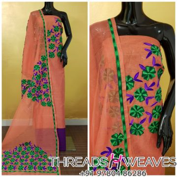 Elegant Pieces of Pure Supernet kota Suit With Aari Embroidery