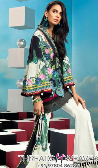 Party Special Elan Lawn Embroidery Suit